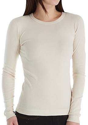 Three Dots Women's Long-Sleeve Crew-Neck T-Shirt