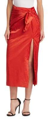 Monse Tie-Front Wrap Skirt