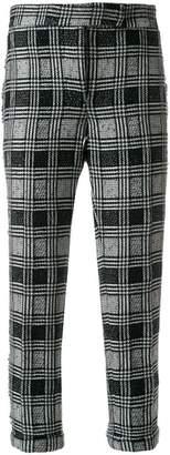 Thom Browne Prince of Wales Tweed Lowrise Skinny Trouser