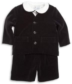 Florence Eiseman Baby's Three-Piece Velvet Jacket, Shirt& Shorts Set