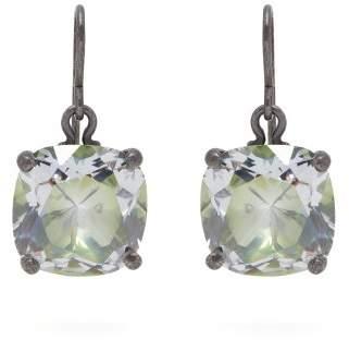 Bottega Veneta Cubic Zirconia Drop Sterling Silver Earrings - Womens - Green