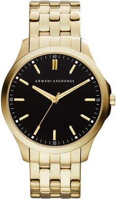 Armani Exchange Men's Gold-Tone Stainless Steel Bracelet Watch 45mm AX2145