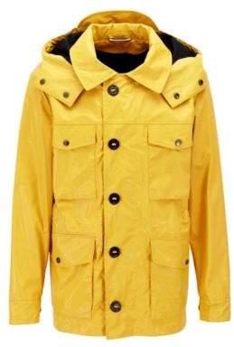 BOSS Hugo Waxed Cotton Field Jacket Charel 38R Yellow