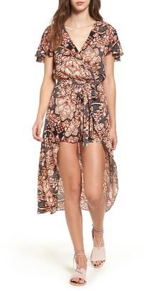 Women's Love, Fire Surplice Maxi Romper $55 thestylecure.com