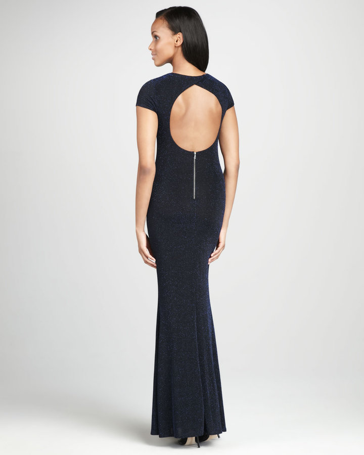 Alice + Olivia Lanie Open-Back Gown