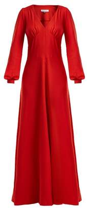 Bella Freud Nova Crepe Puff Shoulder Dress - Womens - Red