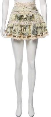 Camilla Coin-Embellished Mini Skirt