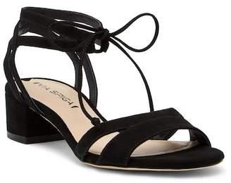 Via Spiga Taryl Suede Block Heel Sandal