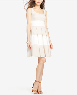 Lauren Ralph Lauren Striped Fit & Flare Dress $109 thestylecure.com