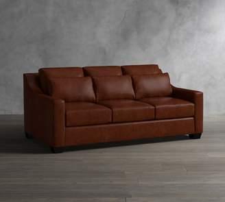 Pottery Barn York Deep Slope Arm Leather Sofa Collection