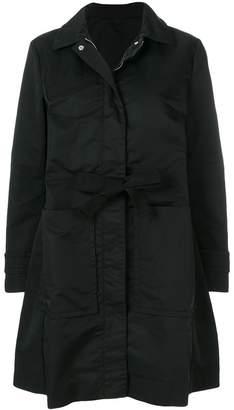 Moncler belted parka coat