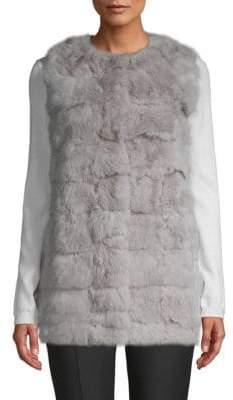 La Fiorentina Collarless Rabbit Fur Vest