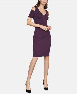 BCBGMAXAZRIA Anah Cold-Shoulder Ponte-Knit Bodycon Dress