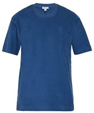 Terry Towelling Organic Cotton T Shirt - Mens - Mid Blue