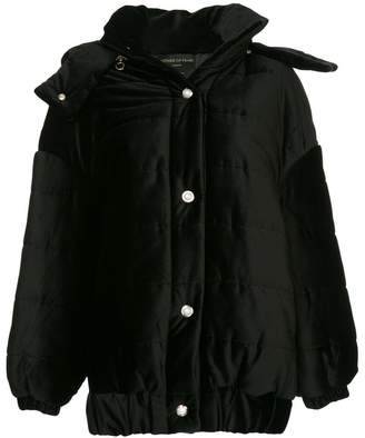Mother of Pearl Porter detachable hood velvet jacket