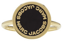 Marc Jacobs Marc Jacobs Gold Enamel Logo Disc Ring