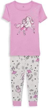 Petit Lem Little Girl's 2-Piece Fairy Pajama Set