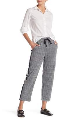 Modern Designer Glen Plaid Side Stripe Trouser