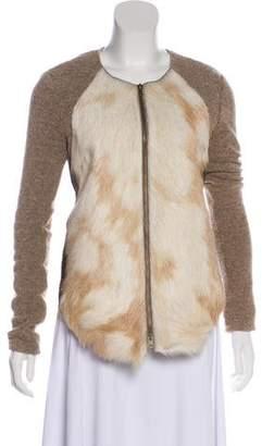b7a5a7893106 Raquel Allegra Structured Goat Fur Coat