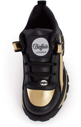 Buffalo London Gold Low-Top Platform Sneaker