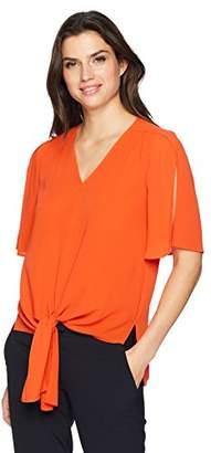 Chaus Women's S/S Tie Front Blouse