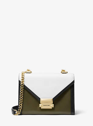 Michael Kors Whitney Small Tri-Color Leather Convertible Shoulder Bag
