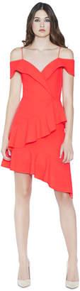 Alice + Olivia Vita Cold Shoulder Neon Dress