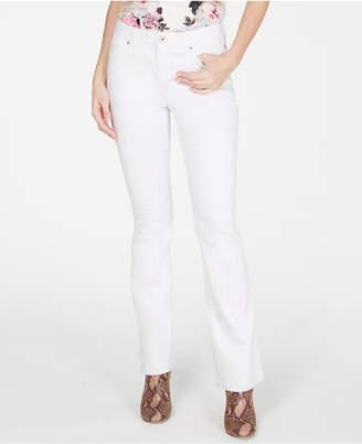 INC International Concepts I.n.c. Petite White Boot-Cut Jeans