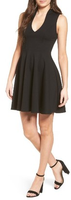 Women's Soprano V-Neck Skater Dress $49 thestylecure.com