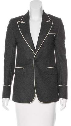 Christian Dior Wool Peak-Lapel Blazer