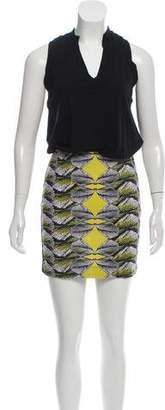 Nicole Miller Printed Mini Dress