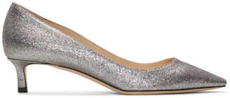 Jimmy Choo SSENSE Exclusive Silver Glitter Romy 40 Heels