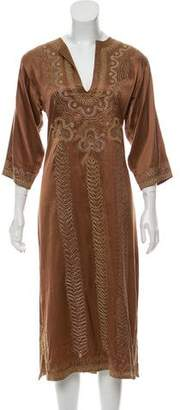 Miguelina Silk Midi Dress
