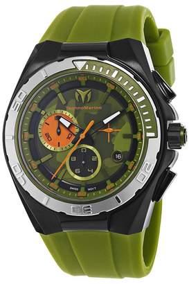 Technomarine Men's 110070 Cruise Steel Camouflage Chronograph Camouflage Dial Watch