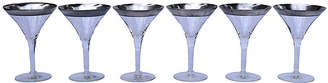 One Kings Lane Vintage Dorothy Thorpe Champagne Coupes - Set of 6