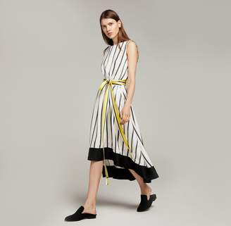 Amanda Wakeley Ribbon Stripe Midi Dress