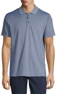 Perry Ellis Jacquard Short-Sleeve Polo