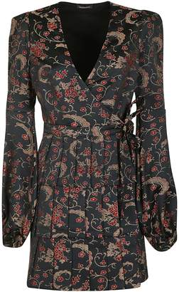 Wandering Floral Jacquard Structured Dress