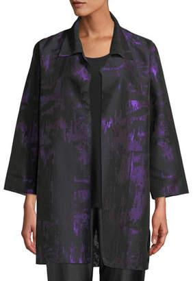 Caroline Rose Moon Shadow Jacquard Open Shirt Jacket