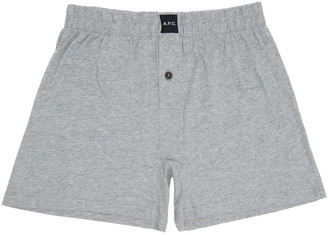 A.P.C. Grey Cabourg Boxers $40 thestylecure.com