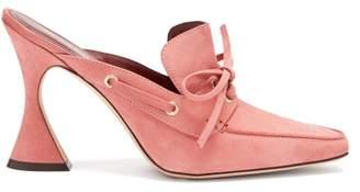 Sies Marjan - Remi Suede Mules - Womens - Pink