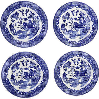 One Kings Lane Willow Decorative Plates - Blue/White