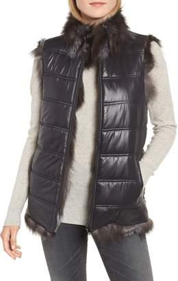 Linda Richards Reversible Genuine Silver Fox Fur Vest
