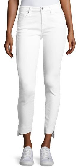 7 For All Mankind7 For All Mankind The Skinny Step Hem Jeans, White
