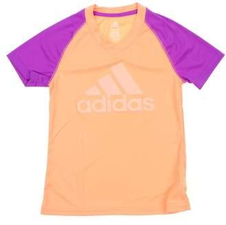 adidas Big Girls Youth Climalite Color Block Raglan Tee