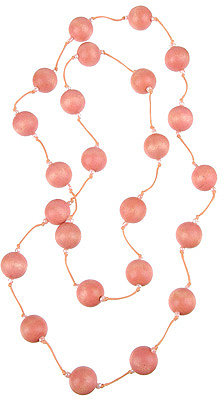 Knotted Wood Bead Necklace