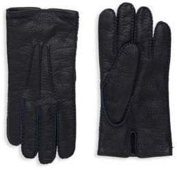 Valentino Pebbled Leather Gloves