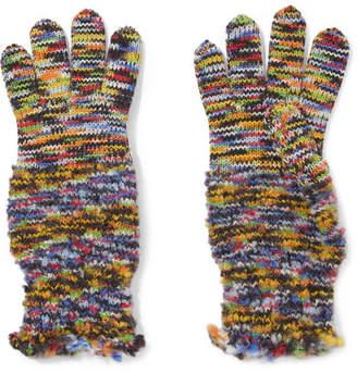 Missoni Wool-blend Crochet-knit Gloves - Yellow