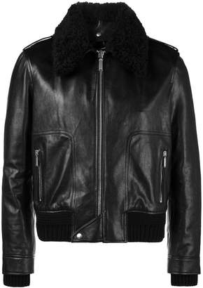 Saint Laurent Shearling collar flight jacket