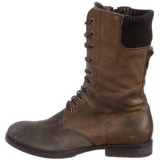 Neil Barrett Leather Combat Boots